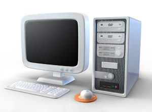 3d pc computer cartoon