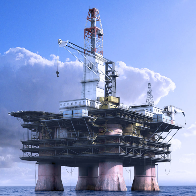 Offshore Oil Rig : Ds max offshore oil rig station