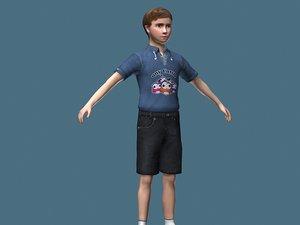 3ds max boy child kid