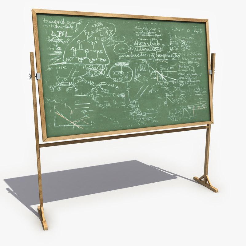 3d chalkboard modeled