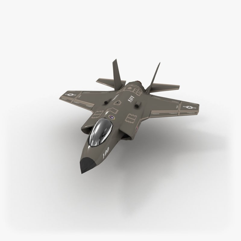 3d model f-35 lightning ii