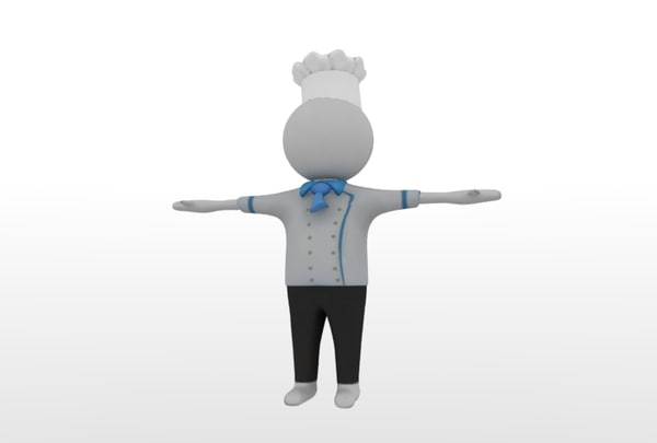obj human character chef