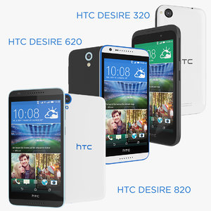 devices htc desire 820 3d model