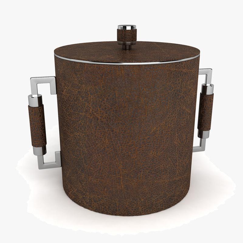3d model bucket ice handle