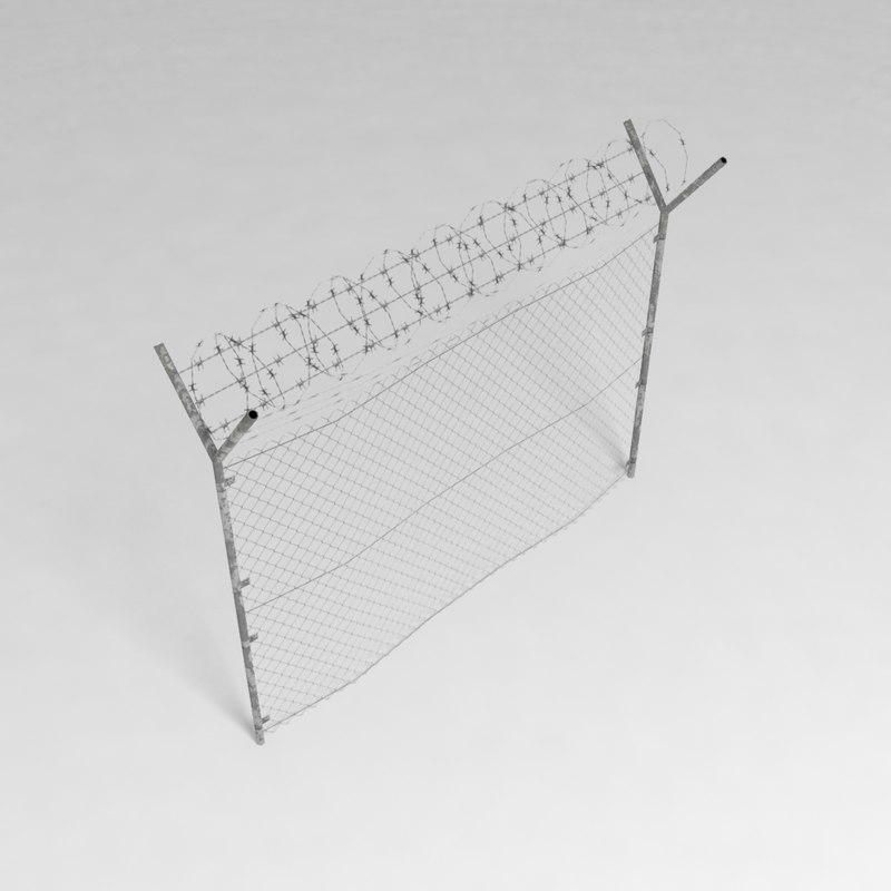 security fence 3d obj