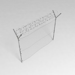 security fence 3d obj
