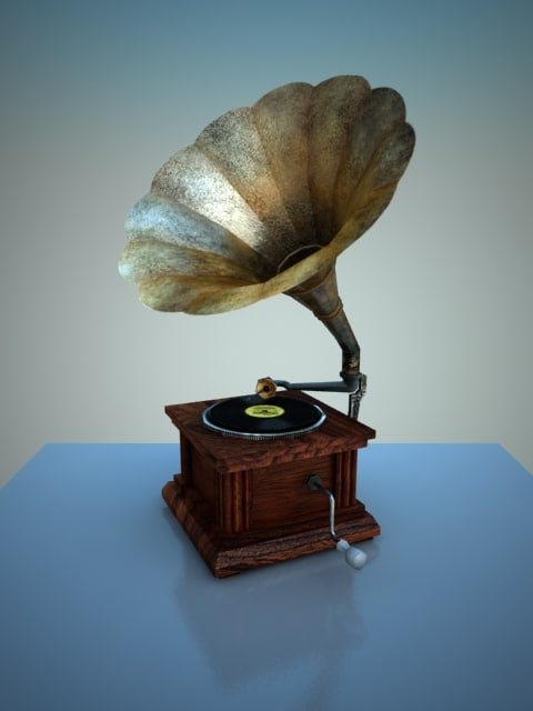 phonograph low-poly 3d model