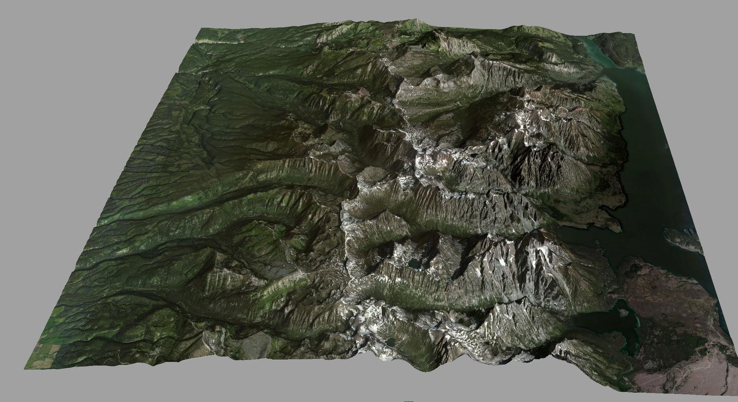 3d model teton national park