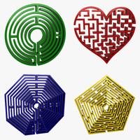 circle maze 3d model
