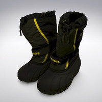 3d sorel snow boots scanning