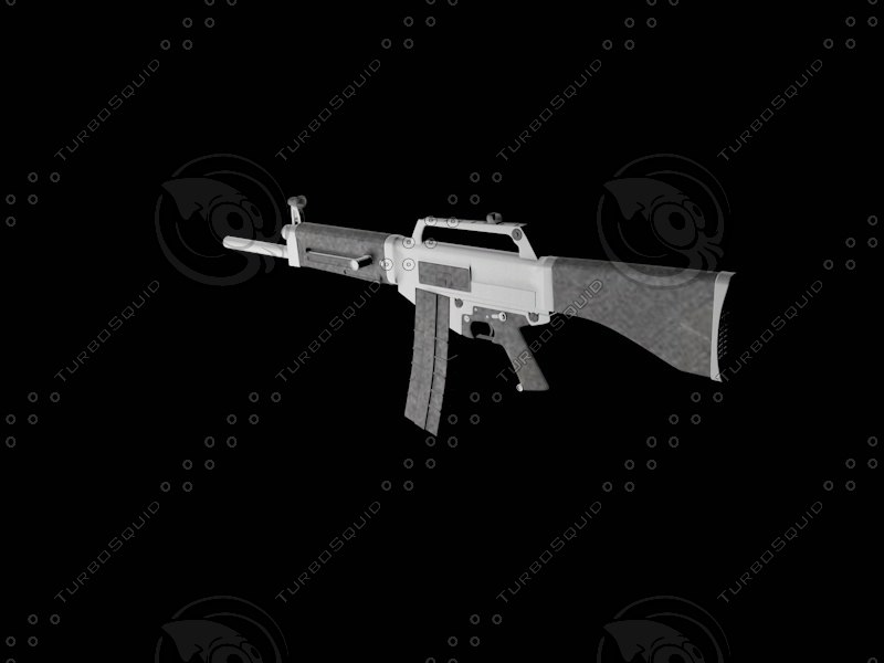 3ds max automatic shotgun usas-12