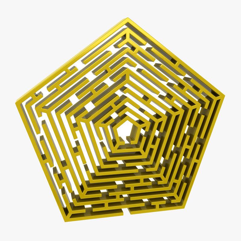 maze pentagon 3d model