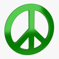 3d symbol peace model