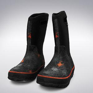 3d model rain boots scanning