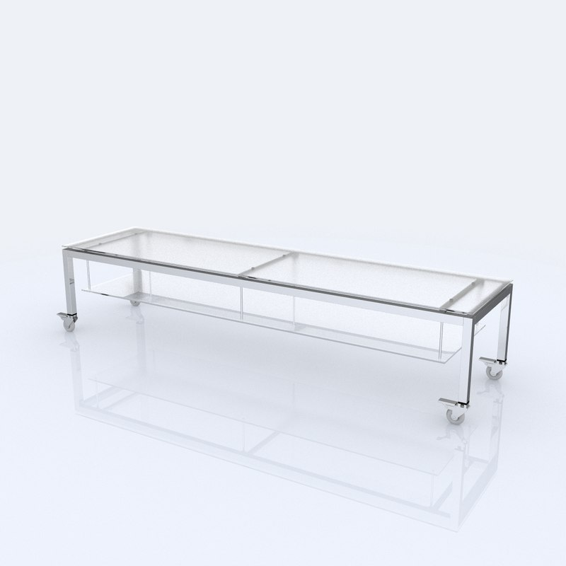 shelf organized 3d model