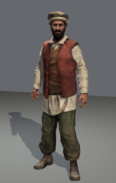 3d model afghan civilian