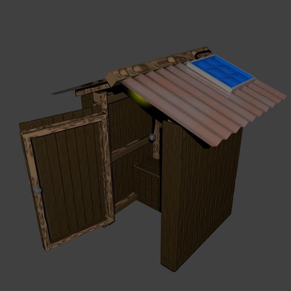 outback toilet 3d model