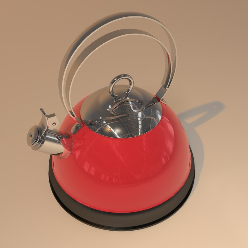 kettle modelled 3d 3ds