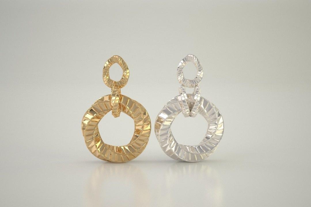 2 pendants gold silver 3d max