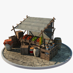 market stall model