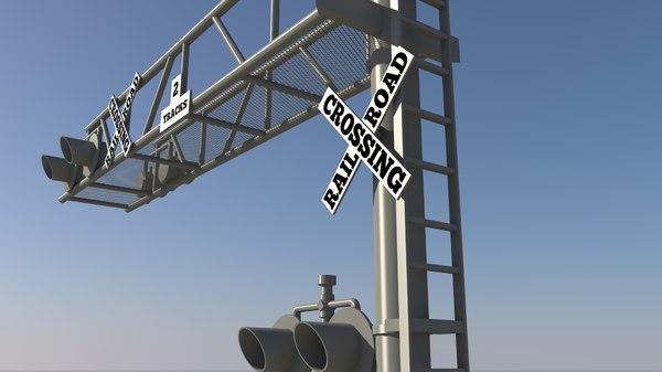 3d rail road post