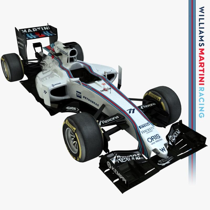 2015 formula 1 williams 3d model