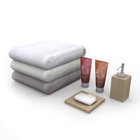 bathroom items 3d model