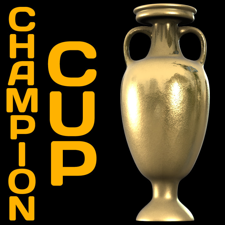 champions cup 3d obj