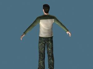 man male human 3d max