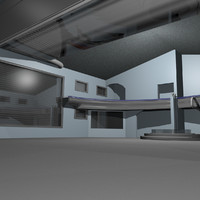 secure warehouse 3d model