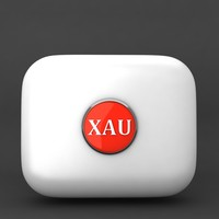 xau gold currency icon 3d model
