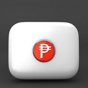 cuba pesos currency icon 3d model