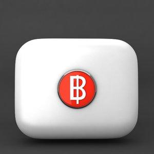 3d cuba currency icon model