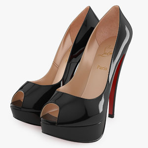 christian louboutin lady peep 3d model