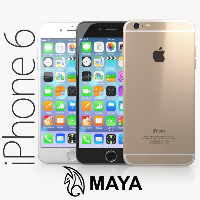 3d apple iphone 6 model