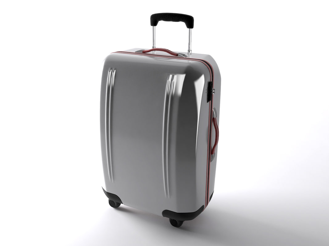3d travel bag case model
