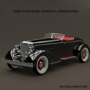1932 chrysler imperial 3d model