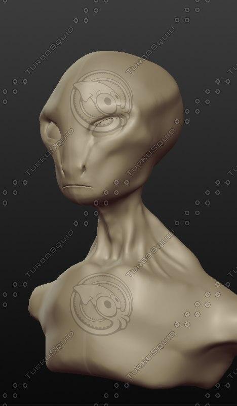 alien sculptris obj
