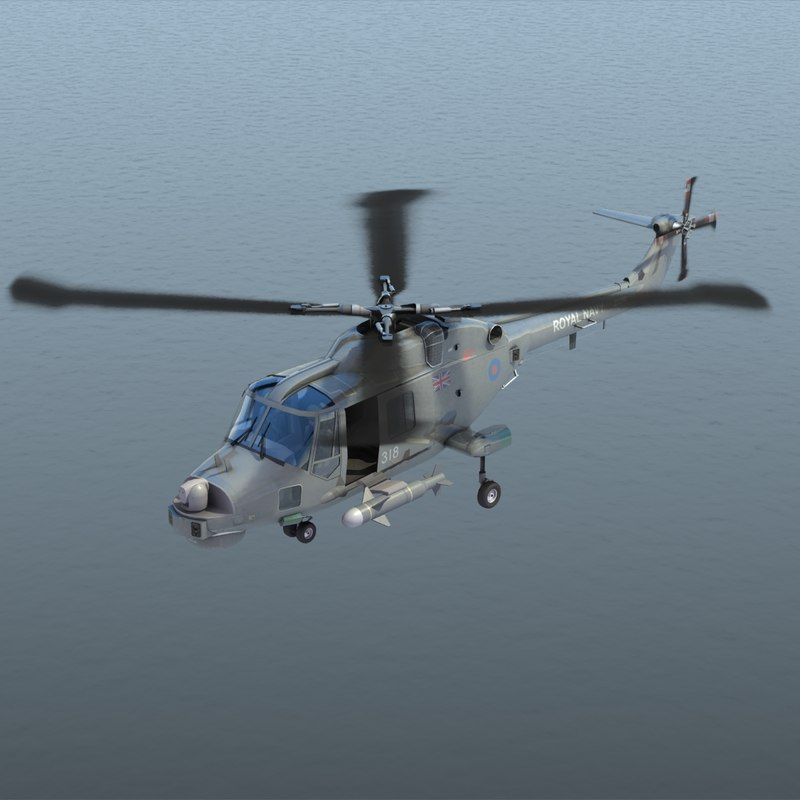 lynx hma 8 royal navy 3d model