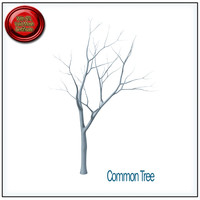 common tree stl printable 3d obj