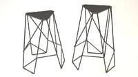 3d stool framework model
