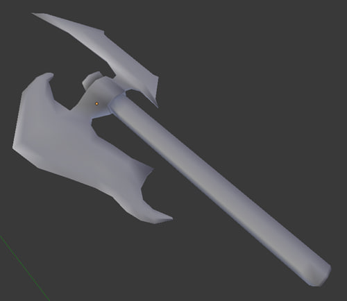 axe stl 3d model