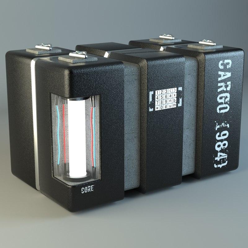 3d model sci-fi cargo box