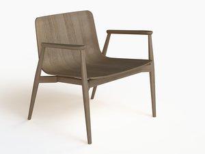 3d malmo 295 chair model