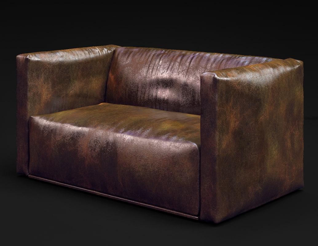 3d sofa leather modern