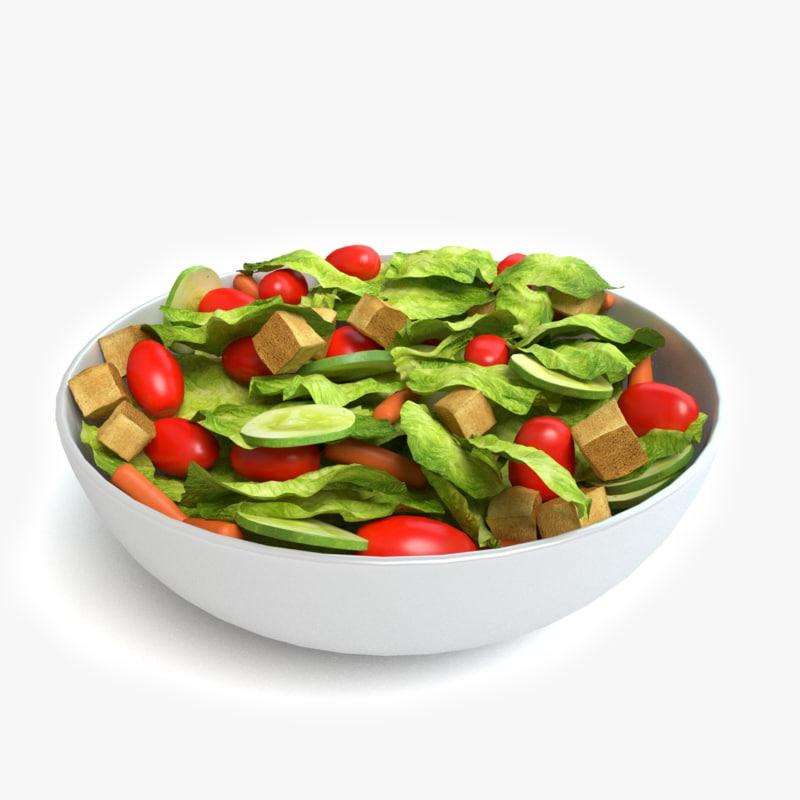 bowl salad 3d max