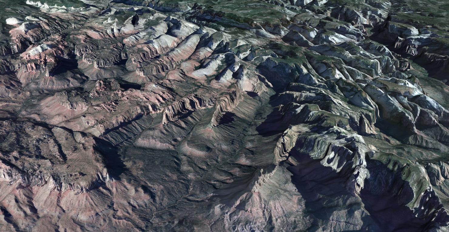 3dsmax mesh zion national park