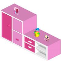 3d model cartoon furniture ware