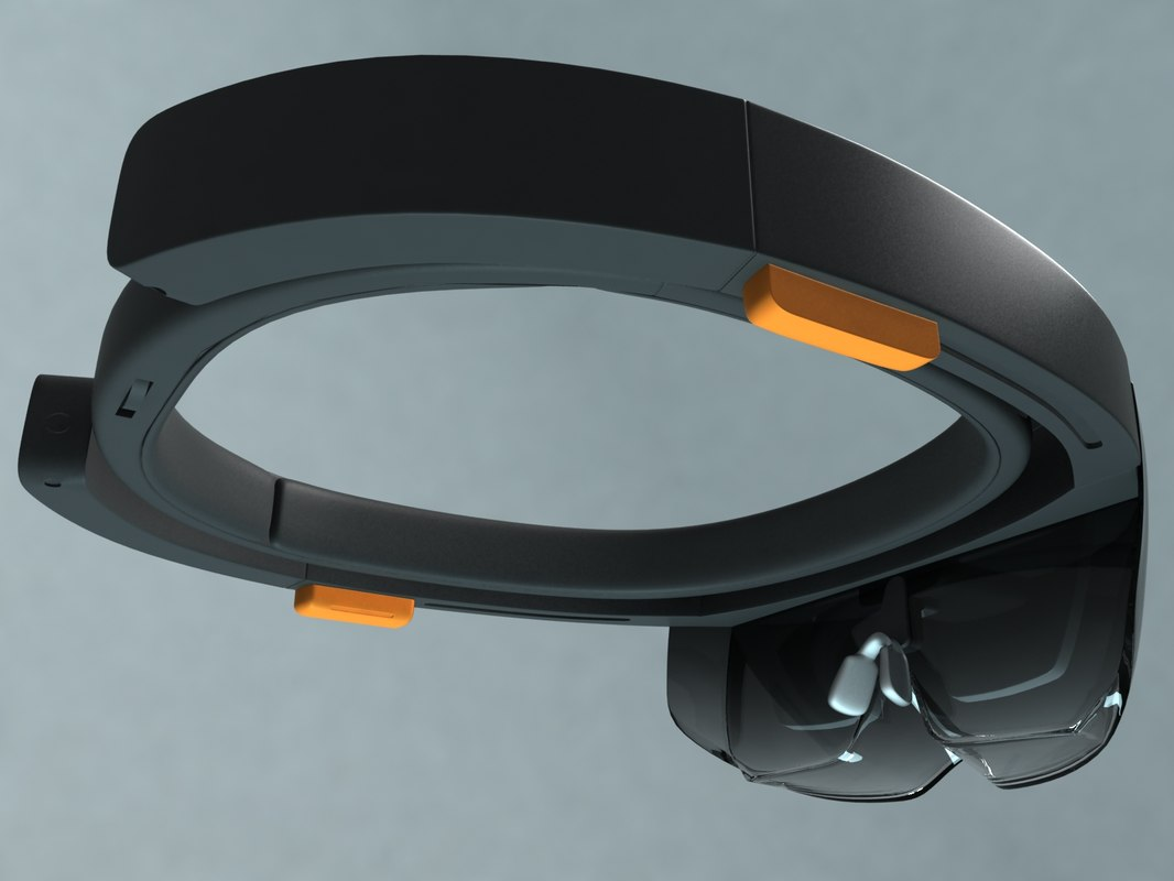 hololens vr glasses 3d model