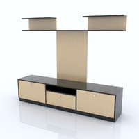 3d shelf organized model